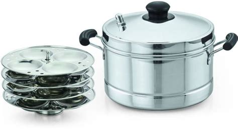 Kitchen Essentials Idli Maker by Sowbaghya Ultima Base Stainless Steel Idly Cooker