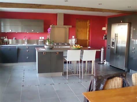 cuisine de jardin en décoration cuisine grise