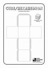 Cube Coloring Paper Cool Models Solids Polyhedra sketch template