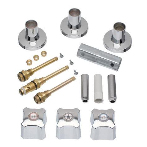 shower system rubbed bronze danco 3 handle tub and shower rebuild trim kit for kohler