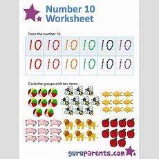 Number 10 Worksheets Guruparents