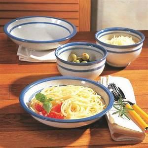 Teller Set Weiß : pasta teller aus wei blauem steinzeug 2er set ~ A.2002-acura-tl-radio.info Haus und Dekorationen