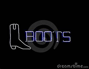 Neon Boots Sign Royalty Free Stock Image