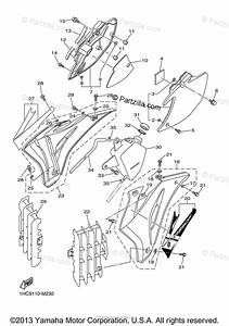Yamaha Motorcycle 2013 Oem Parts Diagram For Side Cover