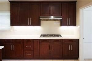 Mahogany Shaker - Ready to Assemble Kitchen Cabinets The