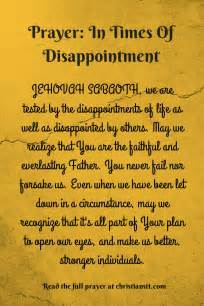 Disappointment Prayer