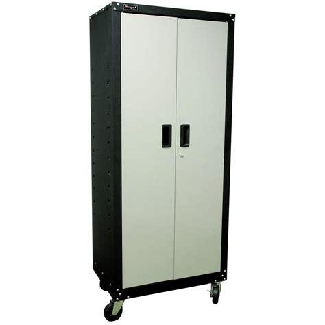 Garage Storage Cabinets With Doors by Homak Garage Series 27 In 2 Door Mobile Cabinet With
