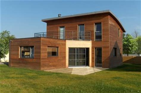 maison cube en bois le bois du cube aux courbes maisons bois naturellement