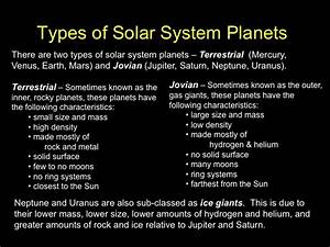 Types of Solar System Planets
