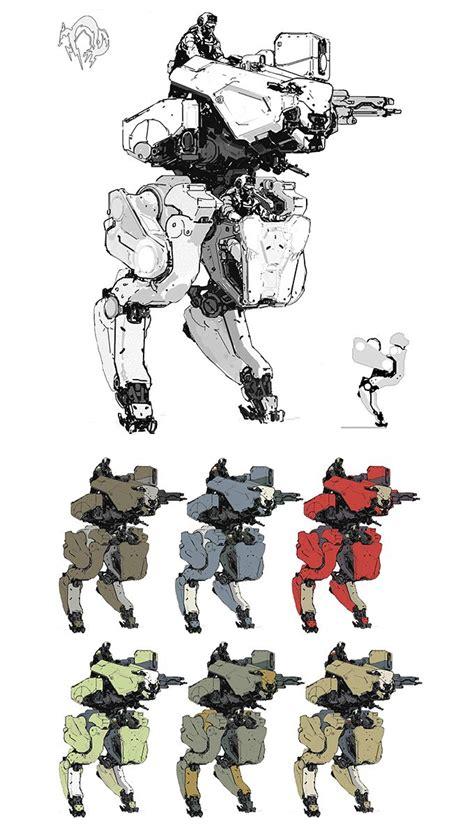 Metal Gear Online Concept Art By Aj Trahan Robot
