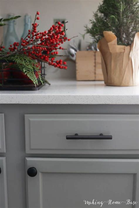 cabinets  gray  behr mixed  behr marquee paint