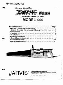 Jarvis 444 Wellsaw Owner U0026 39 S Manual Pdf Download