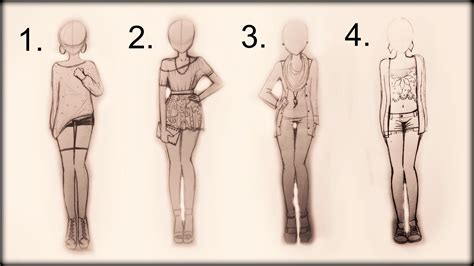 Drawing Tutorial - How to draw 4 spring outfits - YouTube