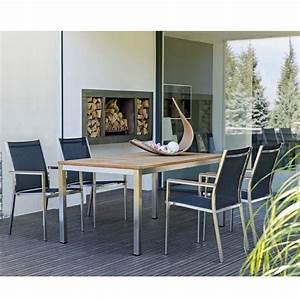 Gartenmöbel Set 8 Personen : stern cardiff gartenm belset edelstahl schwarz mit tisch ~ Michelbontemps.com Haus und Dekorationen