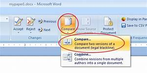 John garger create a track changes document by comparing for Compare documents microsoft word