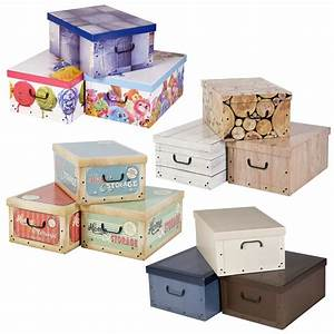 3 Collapsible Underbed Cardboard Storage Boxes Elegant