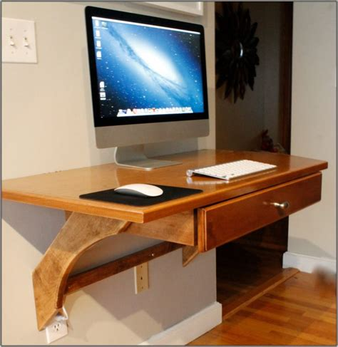 wall mounted pull out desk furniture narrow wooden computer desk with hutch cabinet