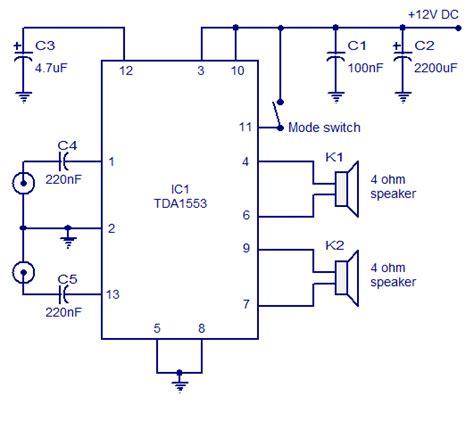 Tda Car Stereo Amplifier Circuit Audio Wiring Diagram