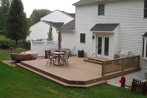Ground Level Composite Deck Cedarbrook Outdoor Design