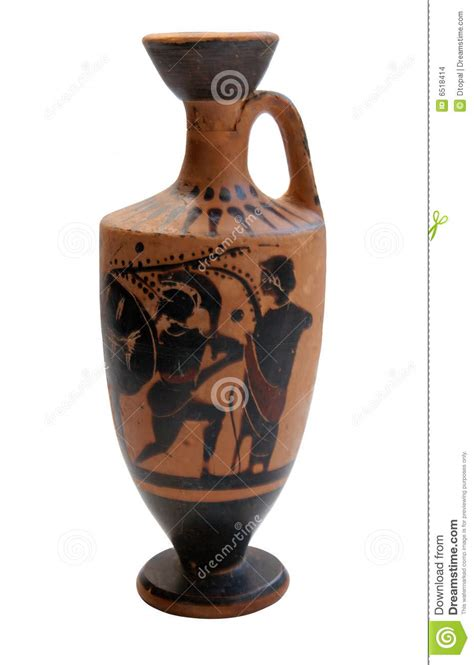 ancient greek vase isolated stock images image