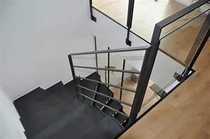Garde Corps Metal : garde corps int rieur en acier ou inox pour escalier ~ Nature-et-papiers.com Idées de Décoration