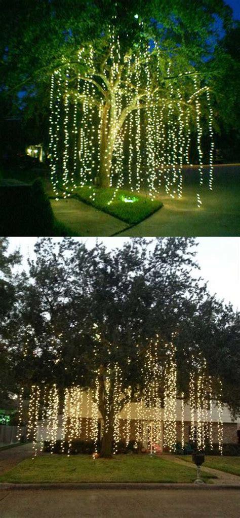 cool ideas  decorate garden  yard trees  christmas