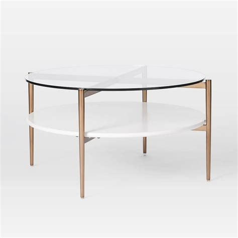 In fantastic condition, this wonderful coffee table is not only chic and modern looking with it's clean. Mid-Century Art Display Round Coffee Table - Cloud | west elm Canada