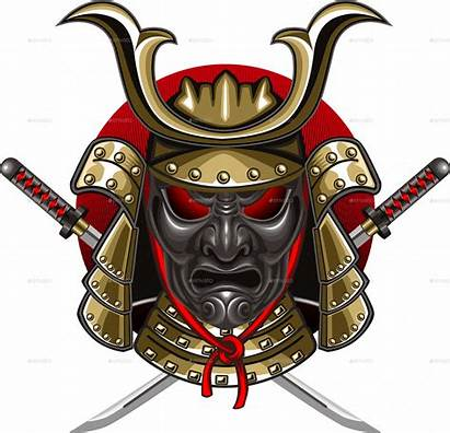 Samurai Transparent Clipart Mask Illustrations Katana Mart