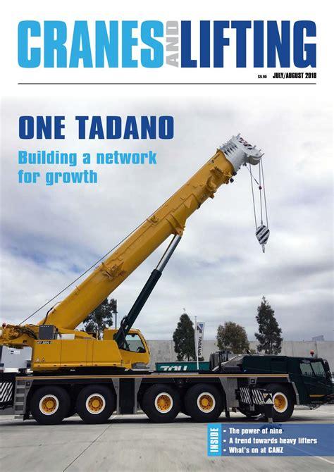 cranes  lifting julyaugust   mayfam media issuu