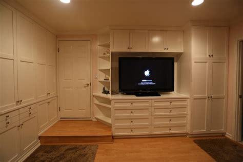home entertainment storage closet wall unit