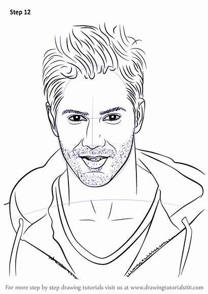 Varun Dhawan Drawing Draw Step Sketch Easy
