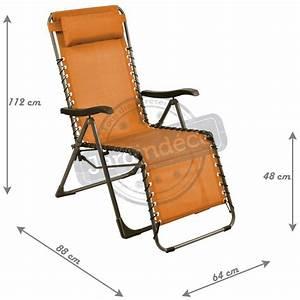 Fauteuil Relax De Jardin : fauteuil de jardin relax n o paprika ~ Teatrodelosmanantiales.com Idées de Décoration