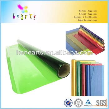 colored cellophane sheets 22gsm colored cellophane sheets paper with high qualiy