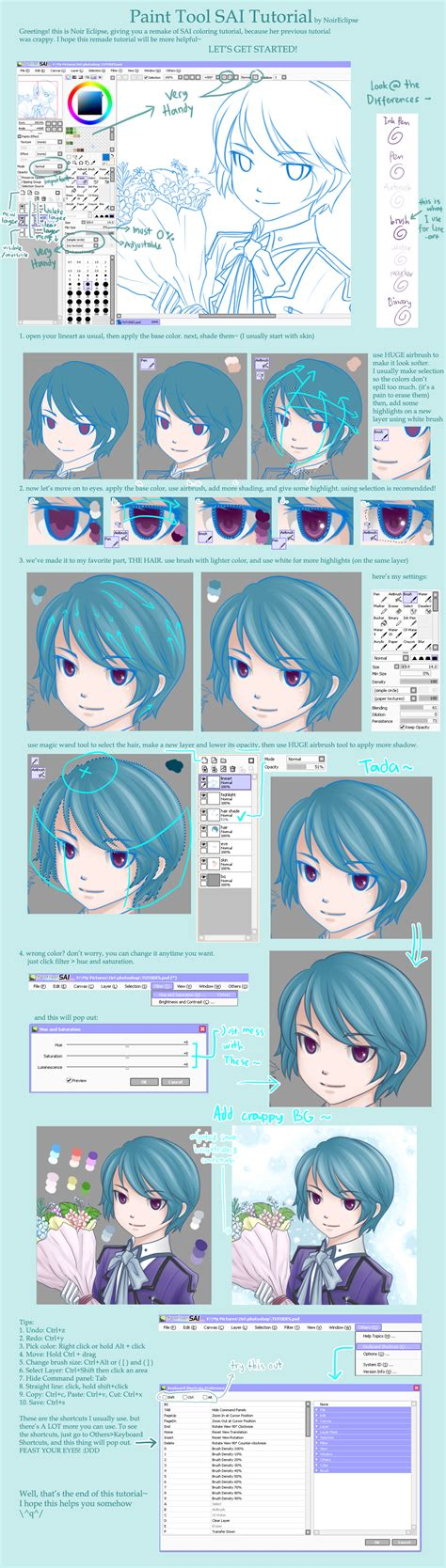 Coloring Tutorial Sai by Paint Tool Sai Tutorial By Noireclipse On Deviantart