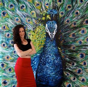 HUGE Peacock Oil Painting – Finally FINISHED! | KATY JADE ...