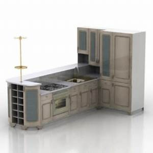 kitchen furniture model 3d model free download With kitchen furniture 3d free