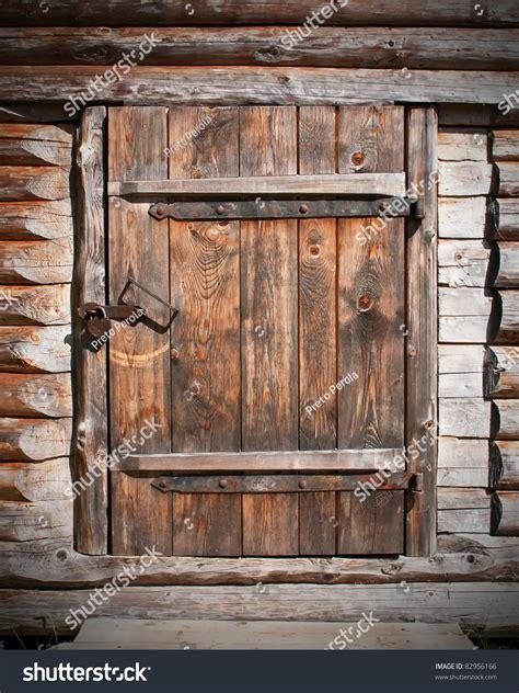 vintage brown wooden door  barn stock photo