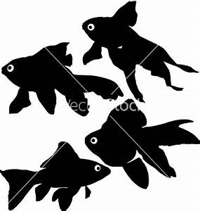 9 Goldfish Silhouette Vector Images - Fish Silhouette ...