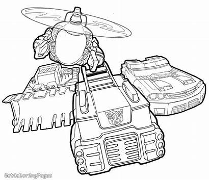 Bots Rescue Coloring Bot Pages Chase Transformers