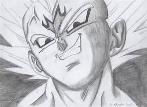 My drawing of Majin Vegeta by TheRoganJosh on DeviantArt