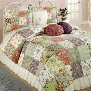 bed quilts blooming prairie cotton patchwork quilt set bedding
