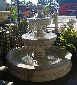 Three, Tier, Tall, Chelsea, Fountain, In, Pond