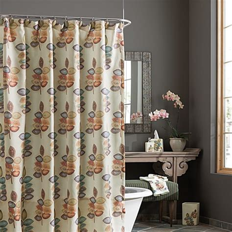 croscill mosaic leaves fabric shower curtain bed bath