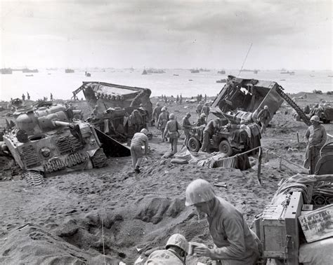 This Is A Feb. 1945 Photo Of U.s. Marine Corps Amtracs And