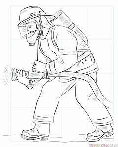 How To Draw A Fireman Step By Step Drawing Tutorials