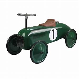 Porteur Voiture Vintage : voiture retro porteur trotteur vert pour enfants ~ Teatrodelosmanantiales.com Idées de Décoration