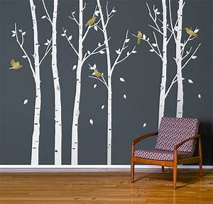 urban forest white wall stickers by zazous With white wall decals
