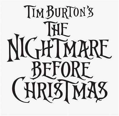 Nightmare Before Font Title Clipart Transparent Clipartkey