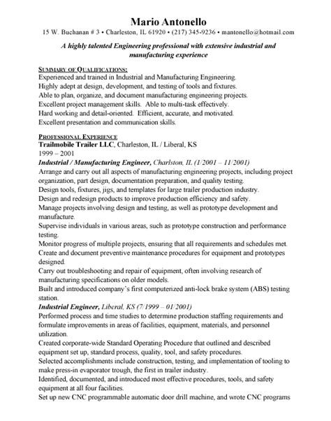 industrial engineer free resumes