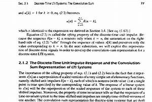 Signals And Systems Oppenheim Solutions The Convolution Sum Discrete Time Lti Systems Lecture Notes